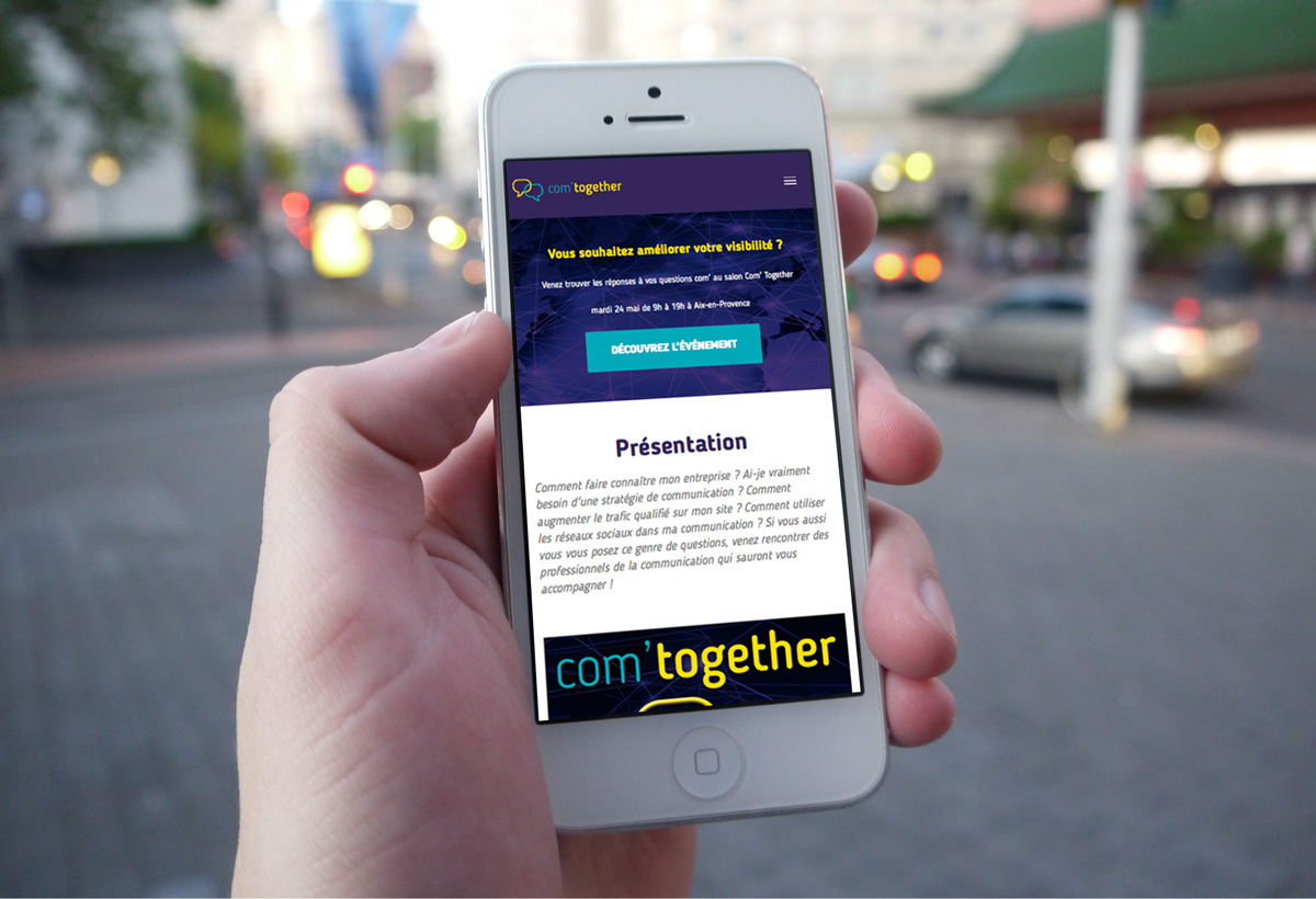 mockup site Com' Together mobile