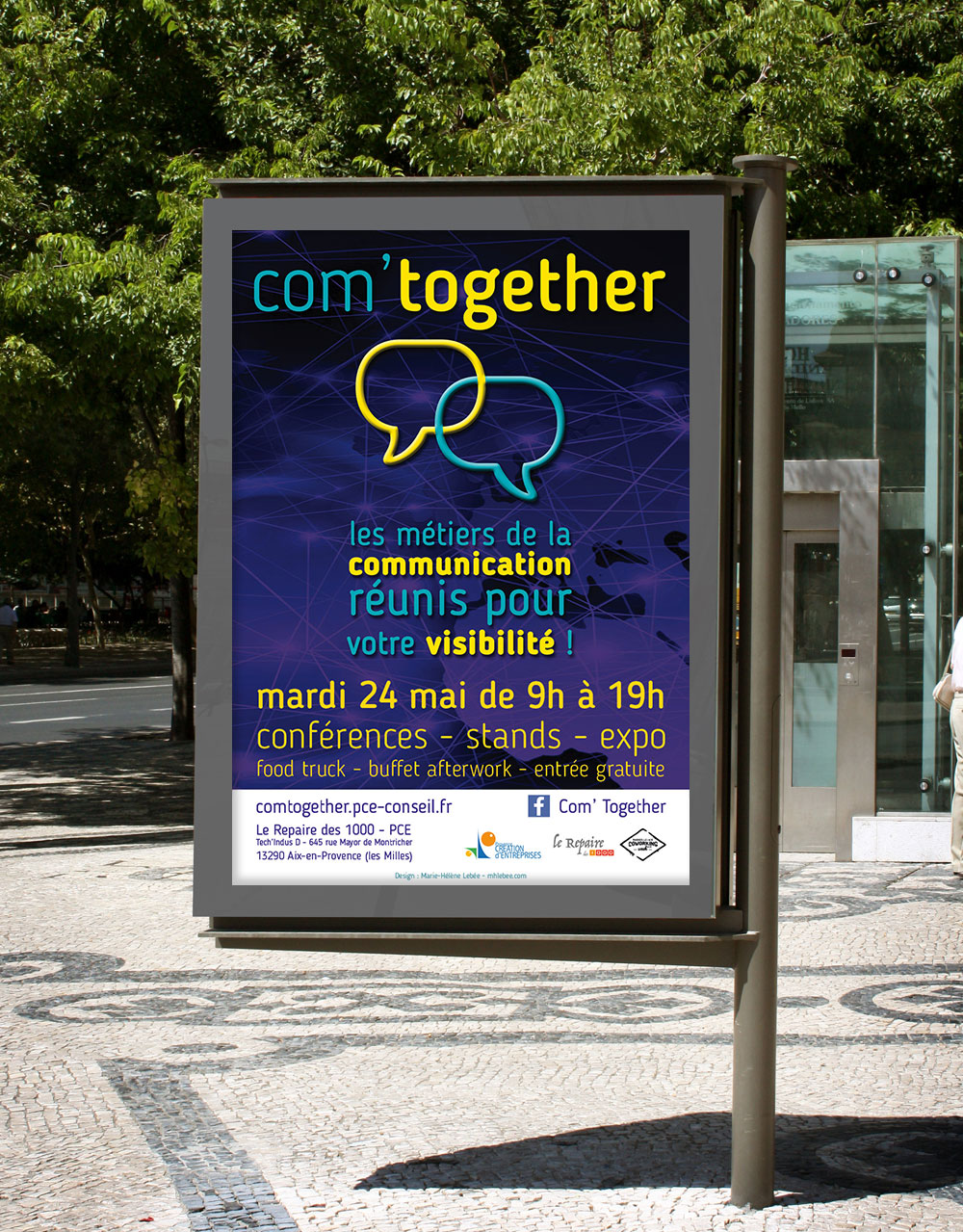 mockup affiche com'together